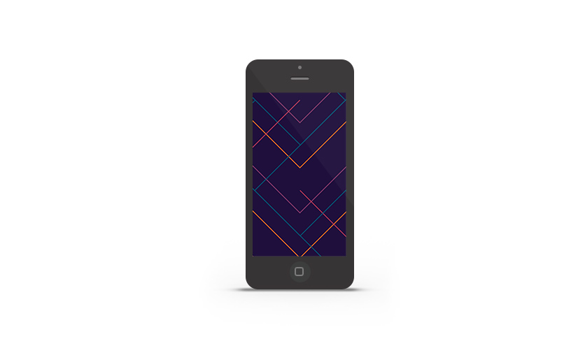 Abduzeedo's iPhone wallpaper of the week by Percolate