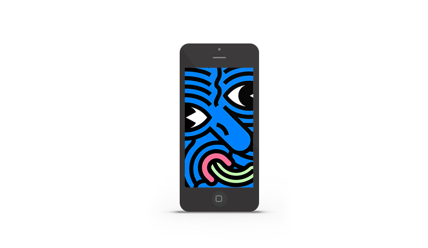 Abduzeedo's iPhone wallpaper of the week by Marco Oggian