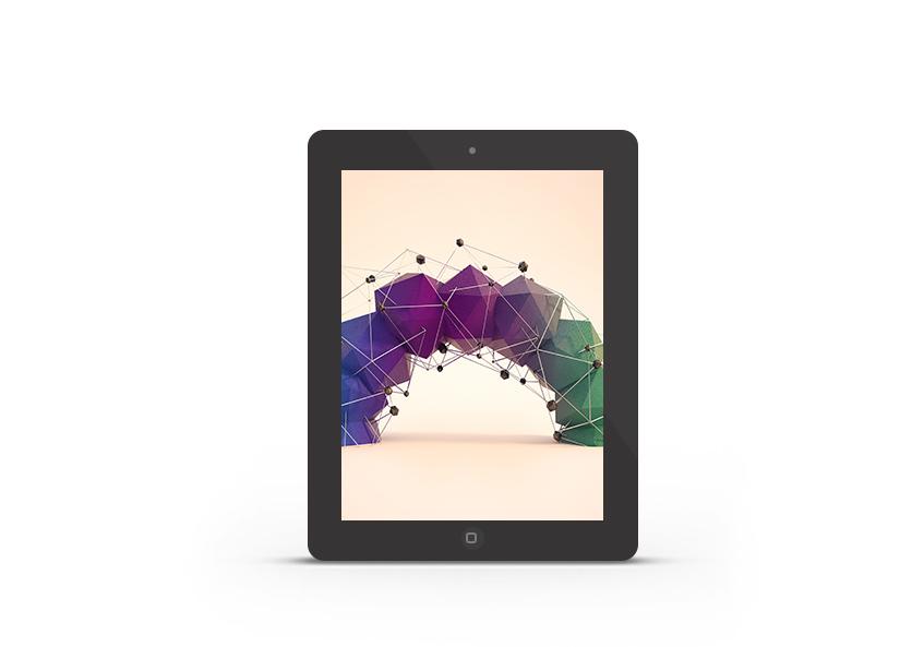 Abduzeedo's iPad wallpaper of the week by Ollie Hooper
