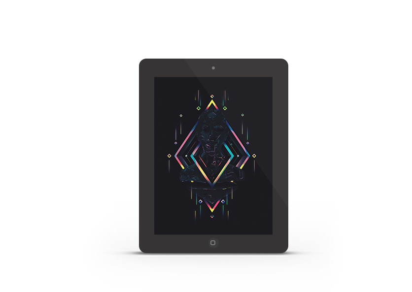Abduzeedo's iPad wallpaper of the week by Sebastian Andaur
