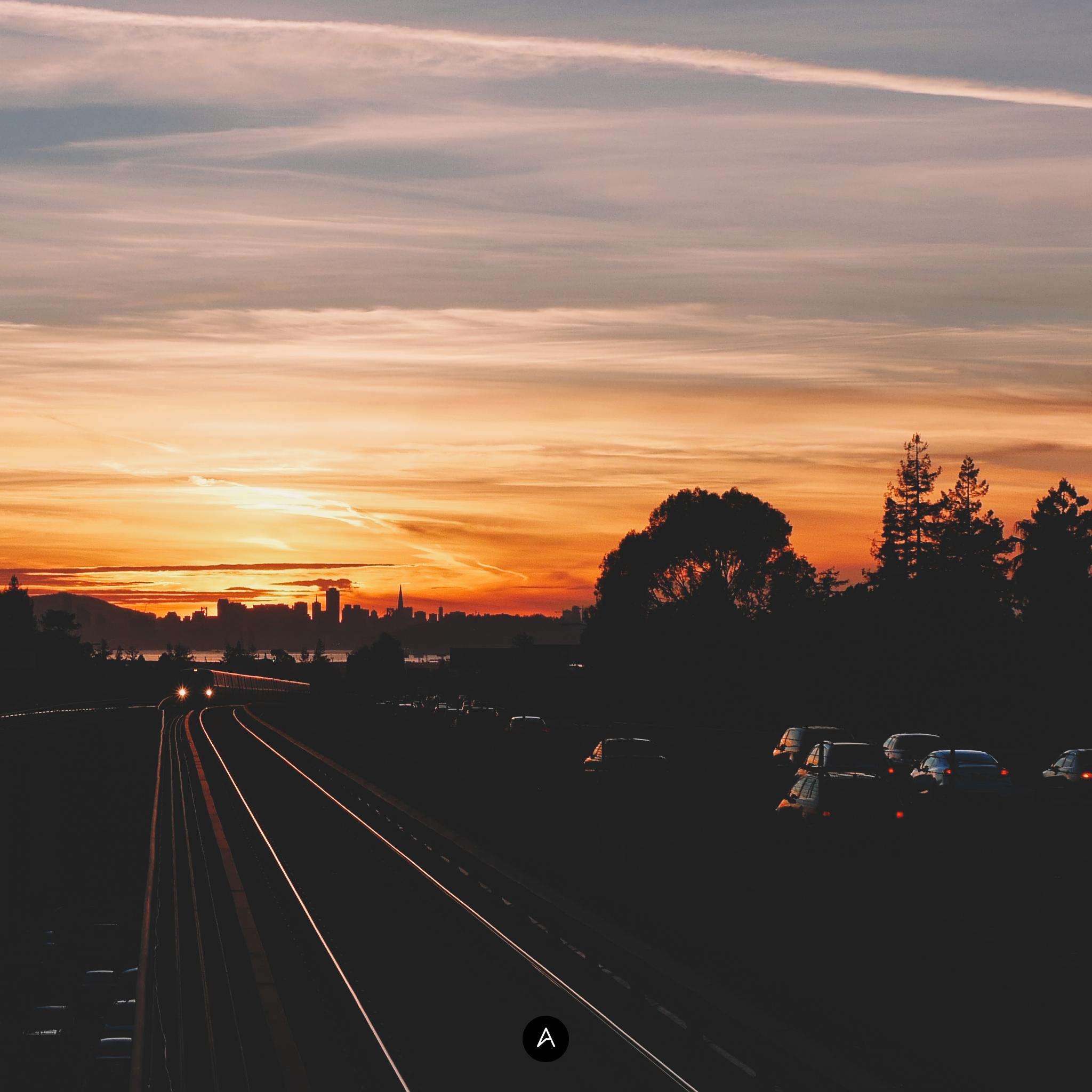 Abduzeedo's iPad wallpaper of the week - Sunset in East Bay