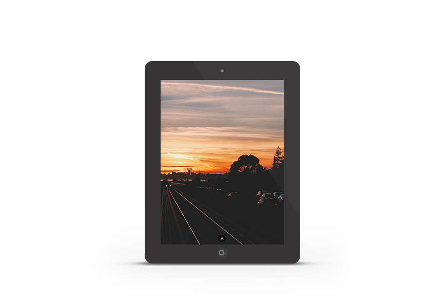 Abduzeedo's iPad wallpaper of the week - Sunset in East Bay