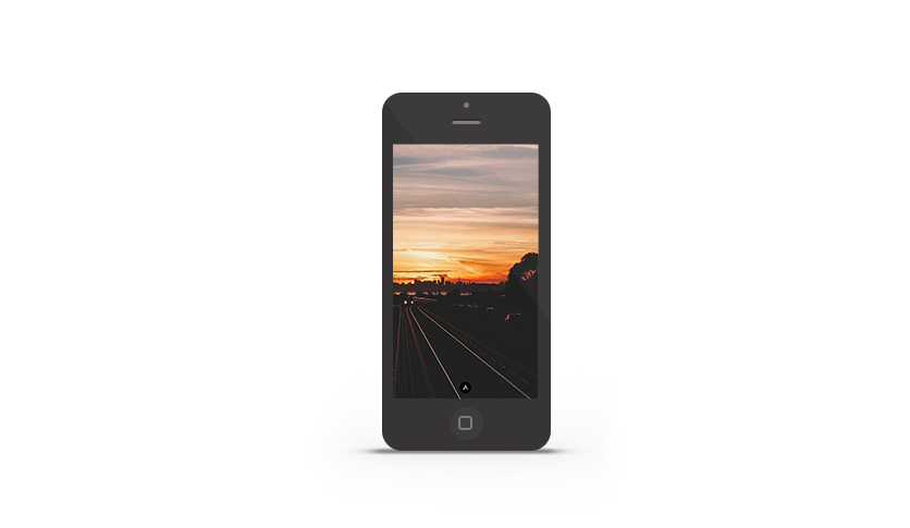 Abduzeedo's iPhone wallpaper of the week - Sunset in East Bay
