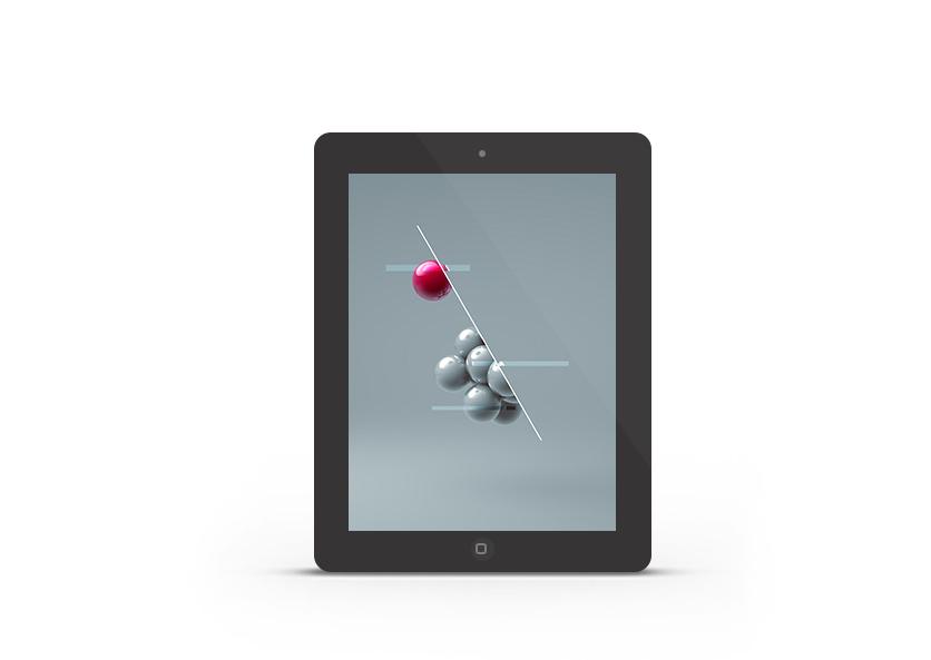 Abduzeedo's iPad wallpaper of the week by Floris Vogelpoel