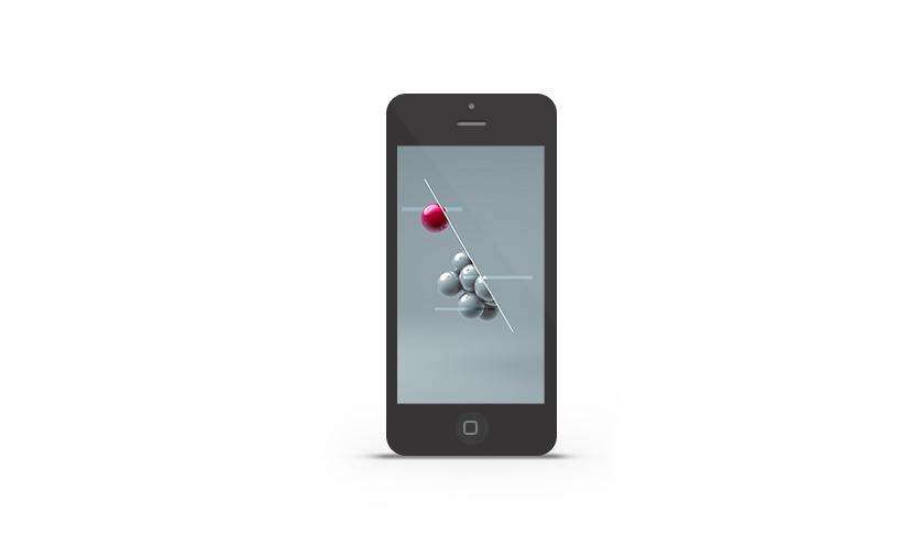 Abduzeedo's iPhone wallpaper of the week by Floris Vogelpoel