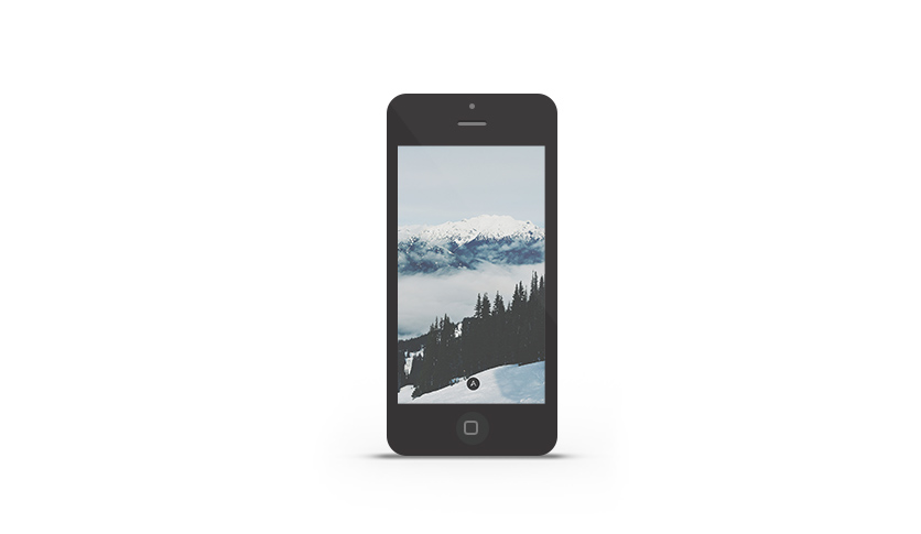 Abduzeedo's iPhone wallpaper of the week- Whistler