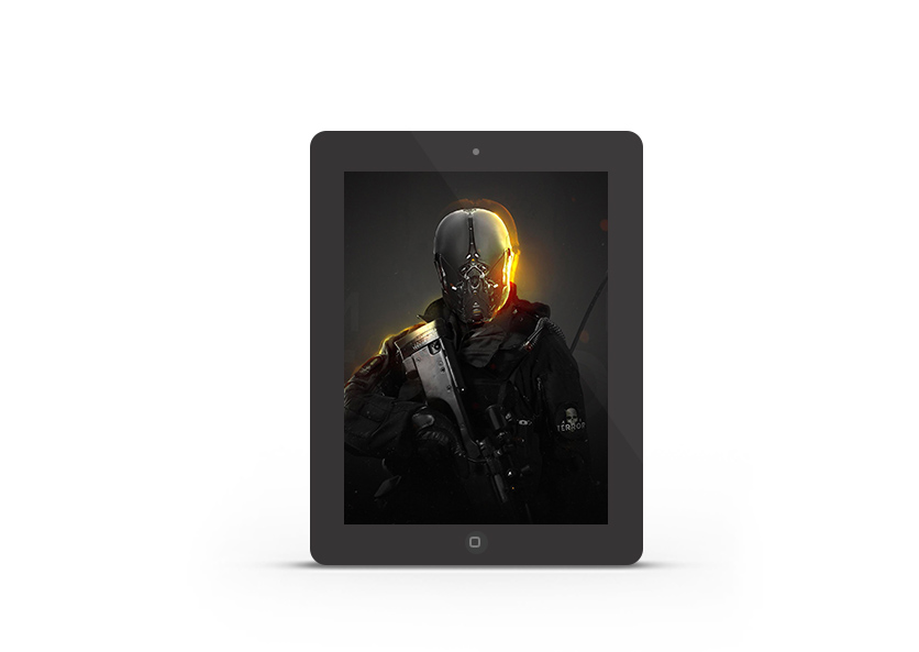 Abduzeedo's iPad wallpaper of the week by iamsynthesis