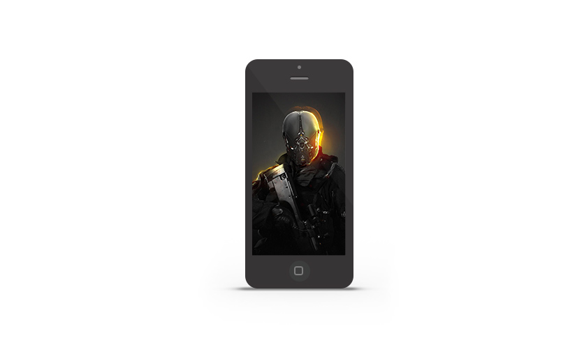 Abduzeedo's iPhone wallpaper of the week by iamsynthesis
