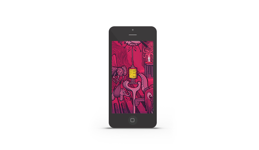 Abduzeedo's iPhone wallpaper of the week by Mostafa Abdelmawla