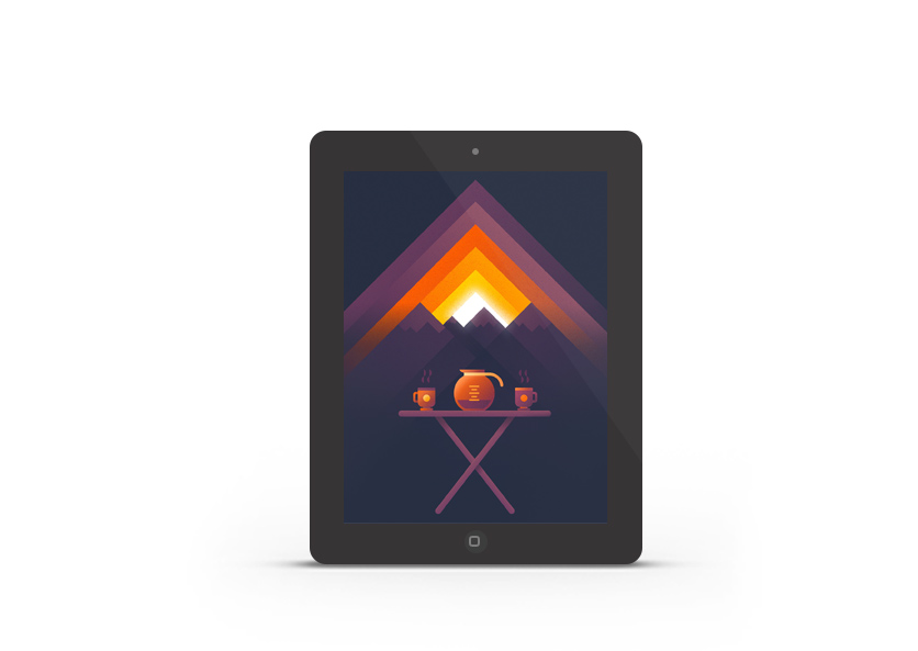 Abduzeedo's iPad wallpaper of the week by Nina Geometrieva