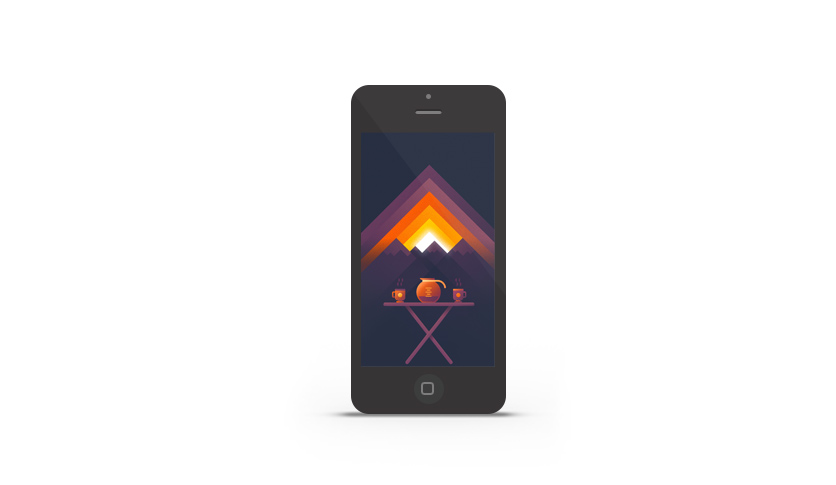 Abduzeedo's iPhone wallpaper of the week by Nina Geometrieva