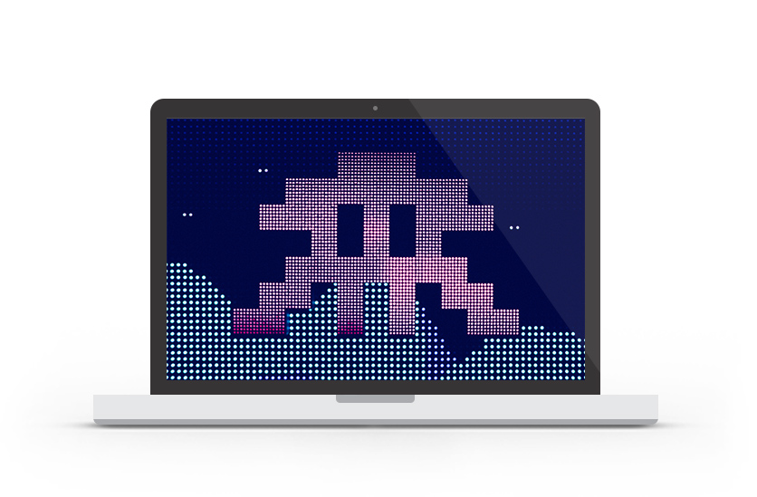 Abduzeedo's wallpaper of the week - Space Invaders