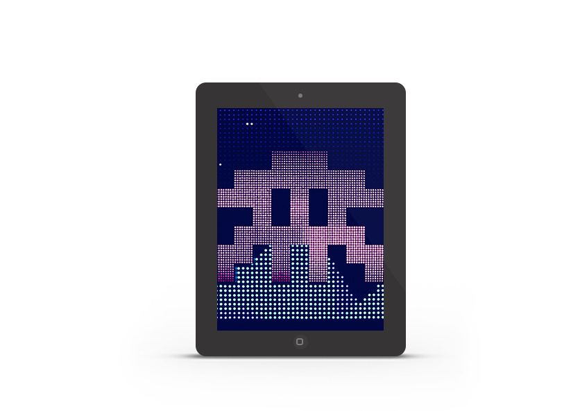Abduzeedo's iPad wallpaper of the week - Space Invaders