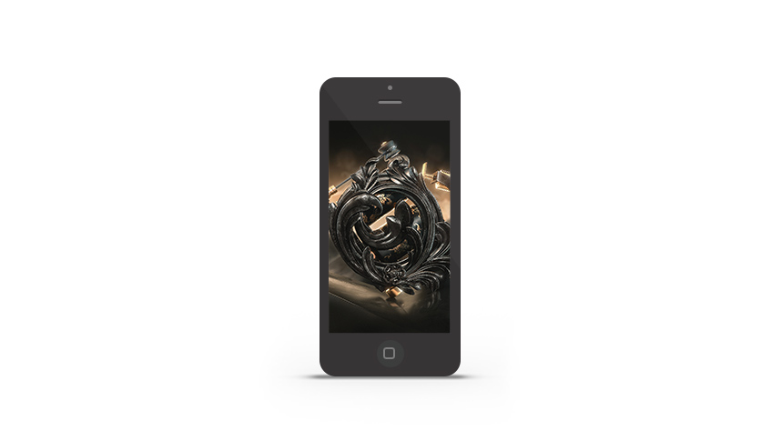 Abduzeedo's iPhone wallpaper of the week by Heiko Klug