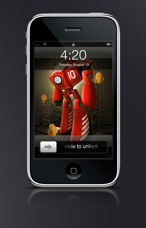Abduzeedo's iPhone wallpaper of the week by Super Silo