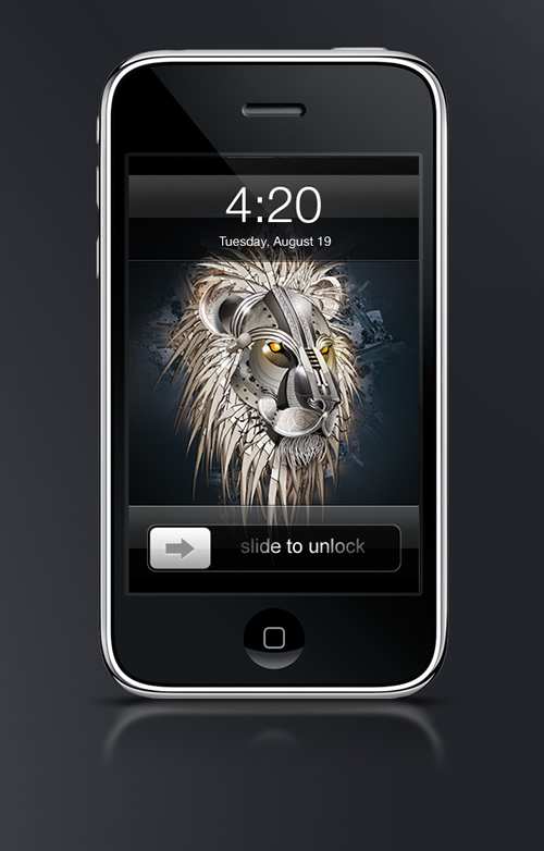 Abduzeedo's iPhone wallpaper of the week by Lionel Charpentier
