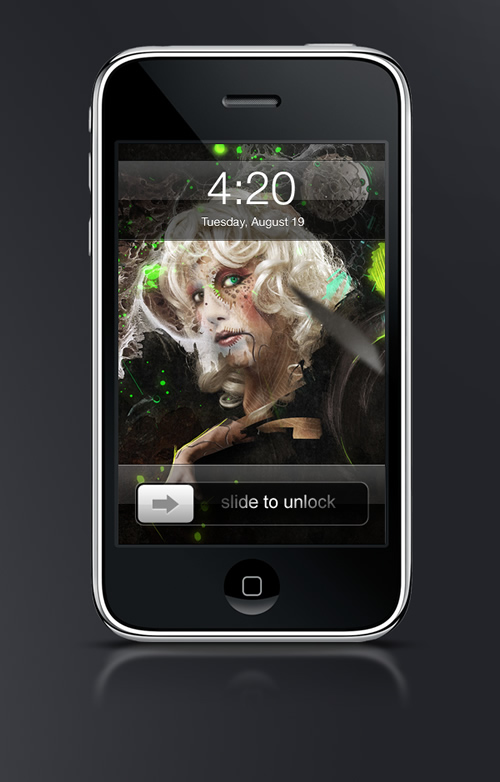 Abduzeedo's iPhone wallpaper of the week by  Craig Shields