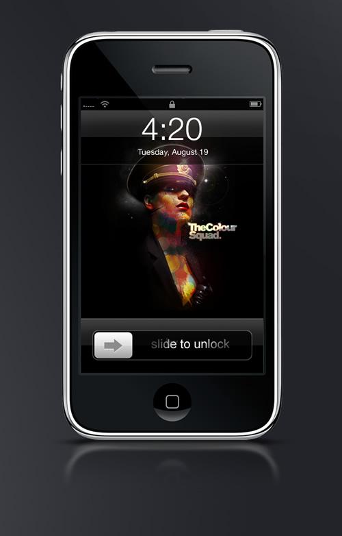 Abduzeedo's iPhone wallpaper of the week by Brett Whatmough