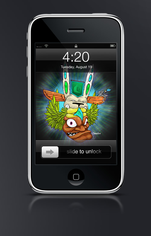 Abduzeedo's iPhone wallpaper of the week by Gustav Balderdash