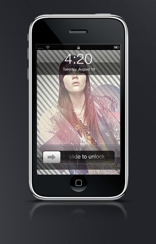 Abduzeedo's iPhone wallpaper of the week by iseedeadpixels
