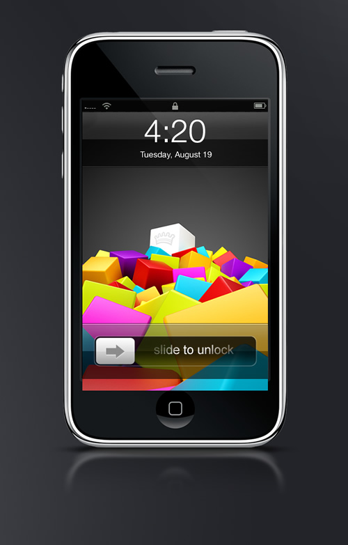 Abduzeedo's iPhone wallpaper of the week by Saltshaker911