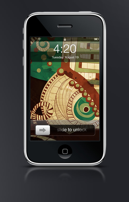 Abduzeedo's iPhone wallpaper of the week by nna Anjos