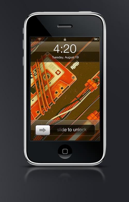 Abduzeedo's iPhone wallpaper of the week by Alex Varanese