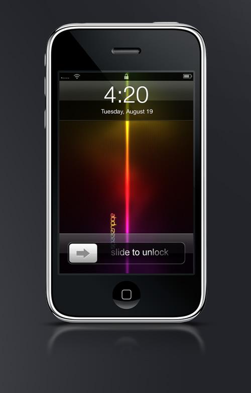 Abduzeedo's iPhone wallpaper of the week by Fabio Sasso