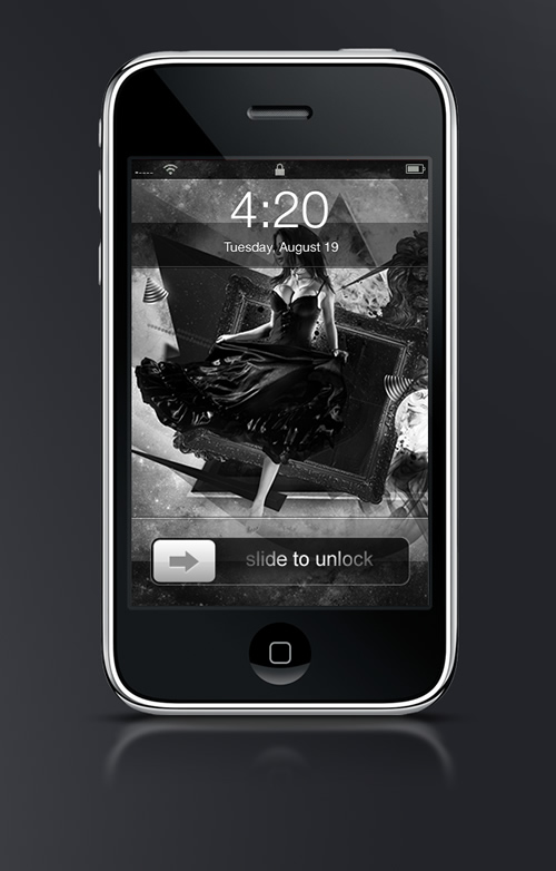 Abduzeedo's iPhone wallpaper of the week by Bastien Allard