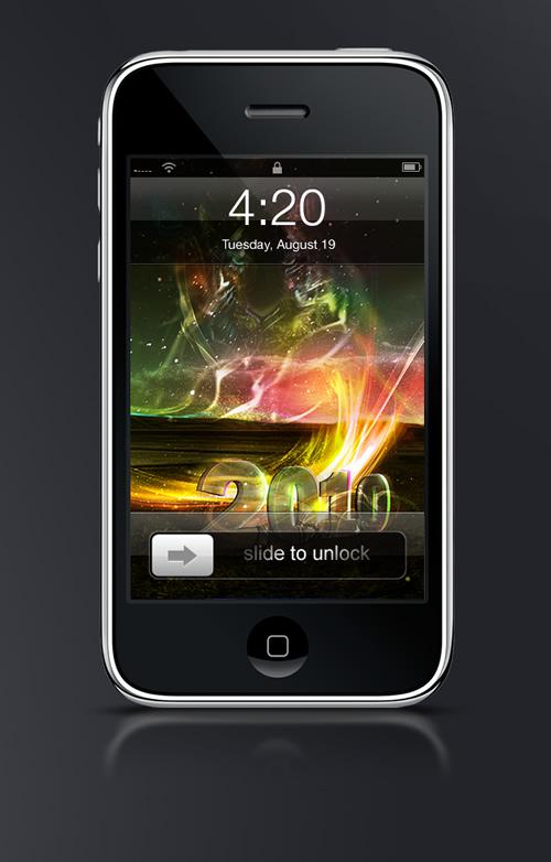 Abduzeedo's iPhone wallpaper of the week by