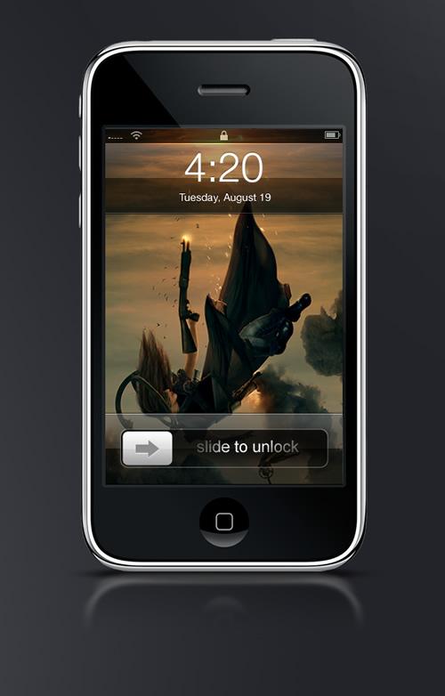 Abduzeedo's iPhone wallpaper of the week by Erik Schumacher