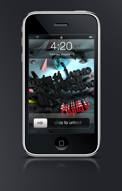 Abduzeedo's iPhone wallpaper of the week by FreshForDeath