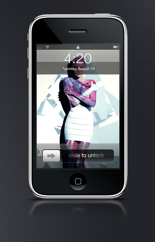 Abduzeedo's iPhone wallpaper of the week by Justin Maller