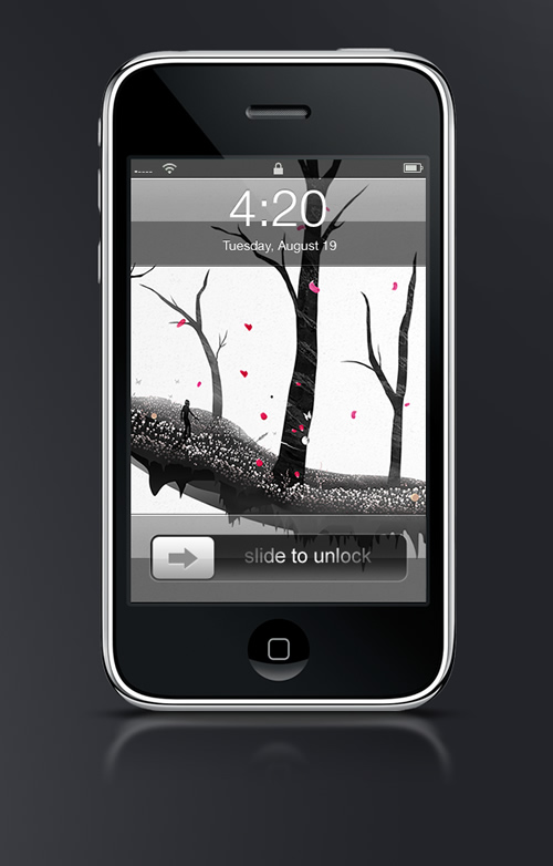 Abduzeedo's iPhone wallpaper of the week by Chris Haines