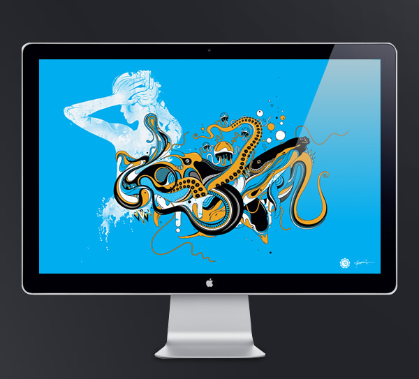 Abduzeedo's wallpaper of the week by Ginger Monkey