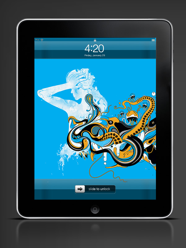 Abduzeedo's iPhone wallpaper of the week by Ginger Monkey