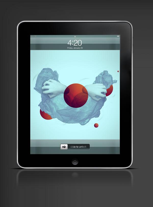 Abduzeedo's iPad wallpaper of the week by Max Spencer