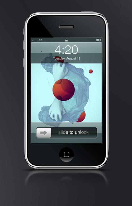 Abduzeedo's iPhone wallpaper of the week by Max Spencer